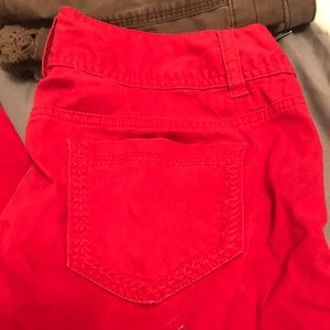 NWOT red skinny jeans